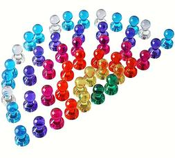 Pack of 60 Push Pin Magnets - 7 Assorted Colors – Kids Saf