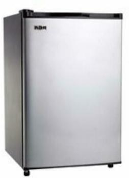 RCA 3.2 Cu Ft Refrigerator Stainless Steel