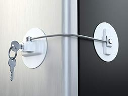 MUIN Refrigerator Door Lock with 2 Keys - White