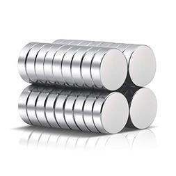 A AULIFE Refrigerator Magnets,36PCS Premium Brushed Nickel F