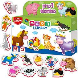 Roter Kafer Refrigerator Magnets for kids FARM Animals 31 pc