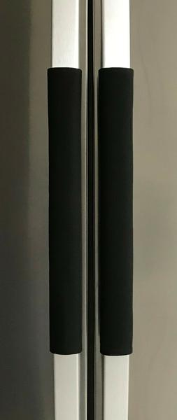 Refrigerator Oven Door Padded Handle Covers Black Set of Two
