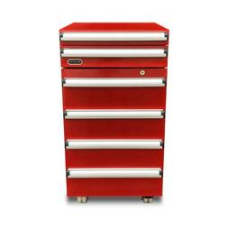 Refrigerator Tool Box Portable 1.8 cu. ft. Red with 2 Drawer
