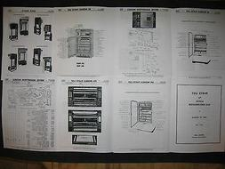 Servel gas refrigerator Parts List for 1939 -1957 models