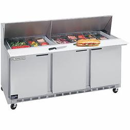 Beverage Air SPE72-30M, 72-Inch Refrigerated Sandwich and Sa
