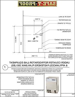 Safe-T-Proof STP-MP-201-PY-07 Undercounter Refrigerator Fast