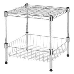 Whitmor Supreme Stacking Shelf With Basket