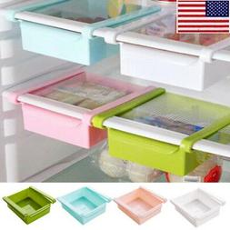 US Slide Fridge Freezer Space Saver Organizer Kitchen Storag