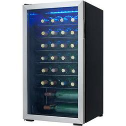 Danby 36-Bottle Wine Cooler, Black and Stainless Steel